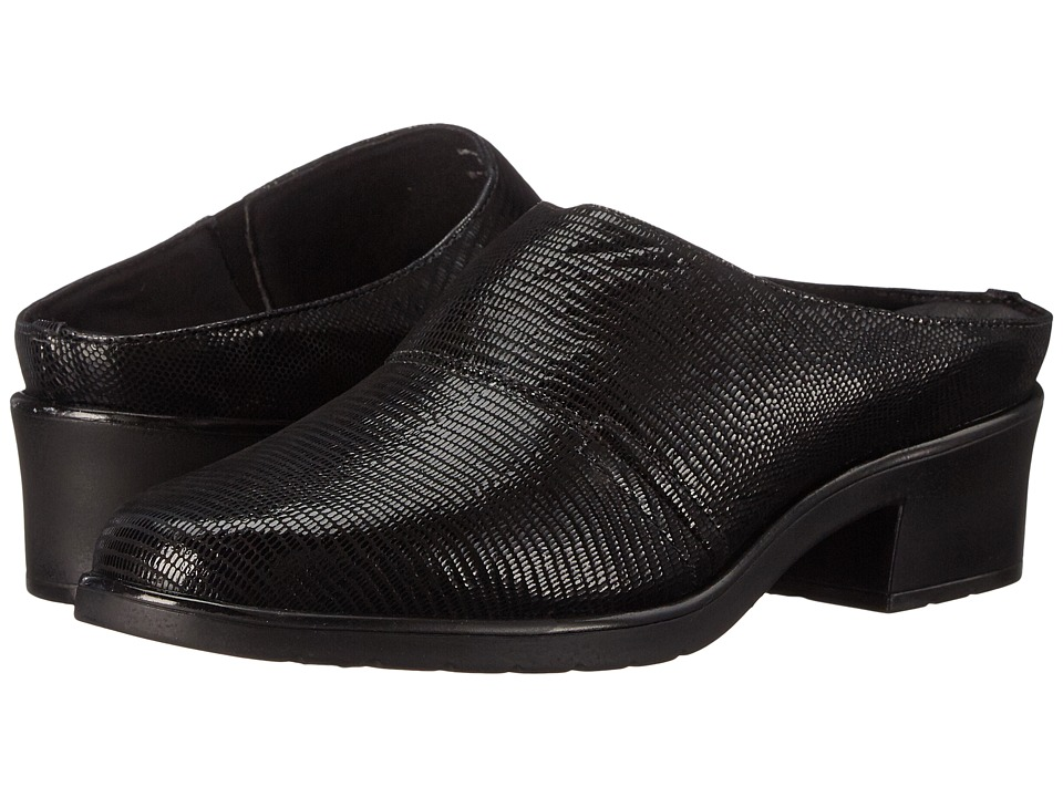 Walking Cradles - Caden (New Black Lizard Patent Print) Women's Clog Shoes