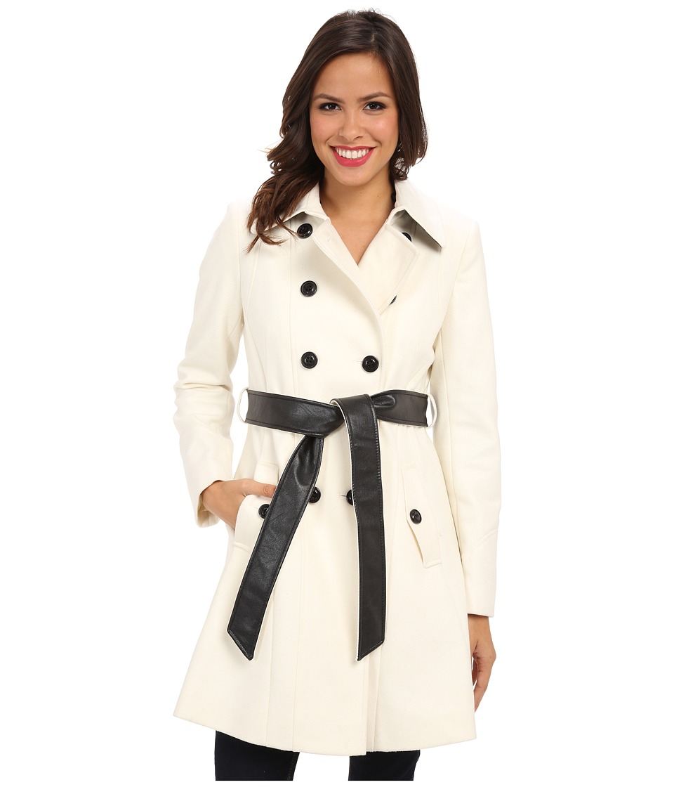 DKNY - Color Block Trench 14200M-Y4 (Ivory) Women's Coat