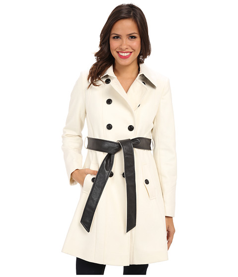 DKNY - Color Block Trench 14200M-Y4 (Ivory) Women