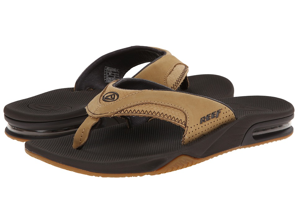 Reef - Fanning Leather (Tan Woven) Men