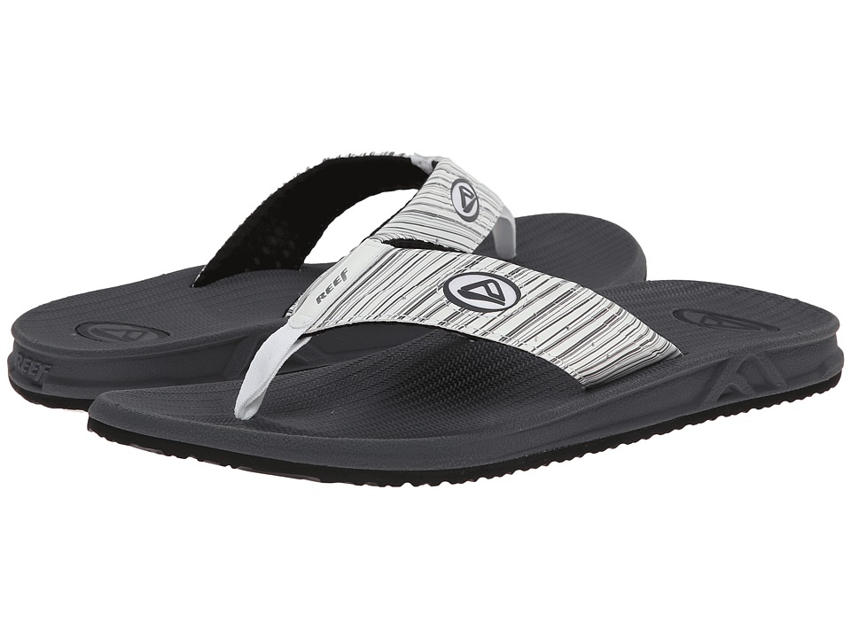 Reef - Phantom Prints (White/Grey Stripes) Men's Sandals