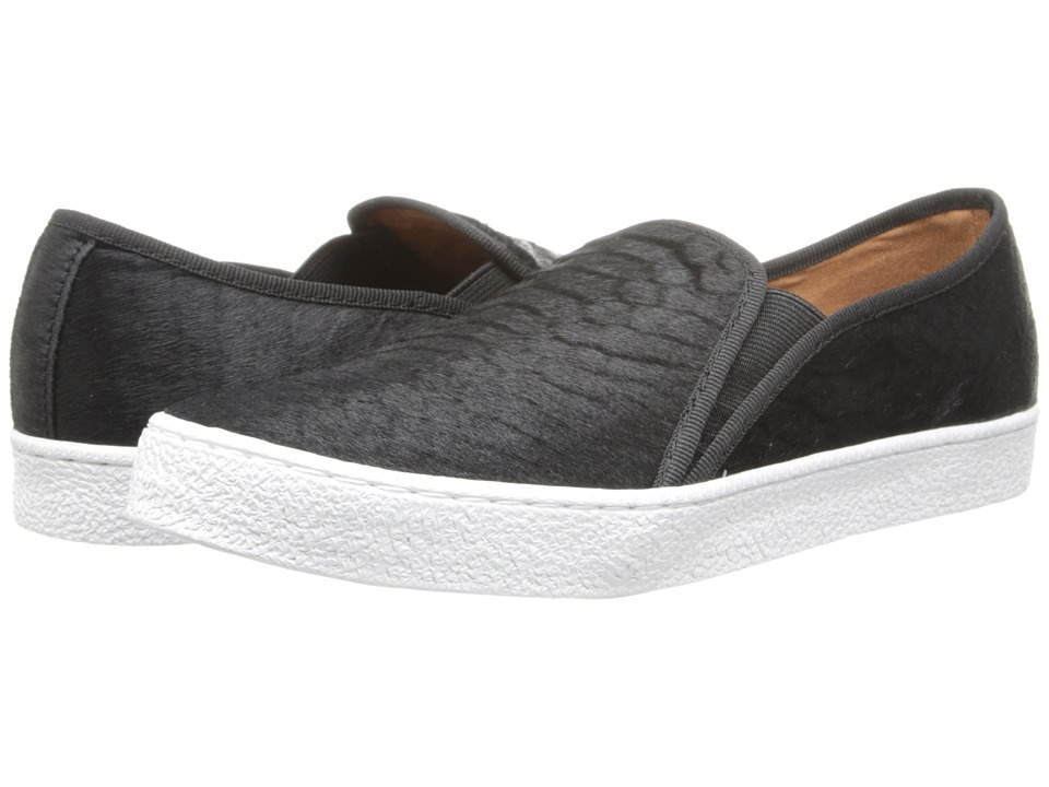 Corso Como - Duffy (Black Snake Haircalf) Women's Slip on Shoes