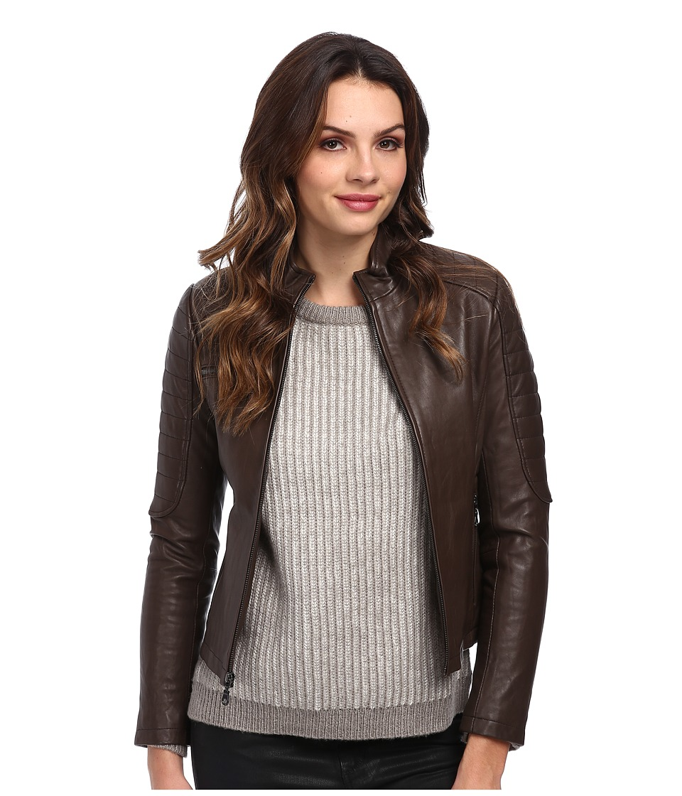 DKNY - Single Breasted Moto Jacket 18954-Y4 (Mushroom) Women