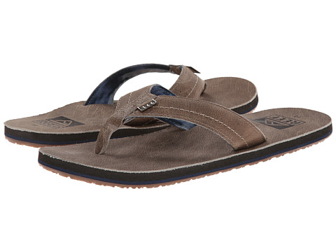 Reef - We Heart Leather (Fossil) Men's Sandals