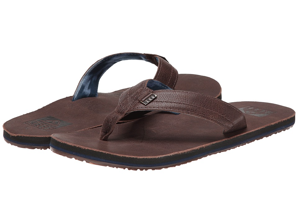Reef - We Heart Leather (Dark Brown) Men's Sandals