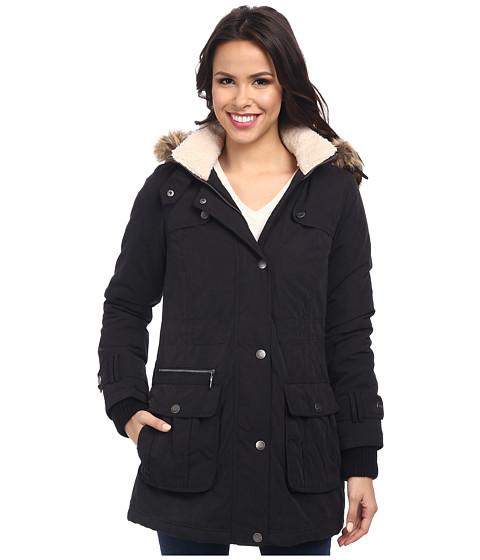 DKNY - Anorak w/ Berber Trim 82115-Y4 (Black) Women's Coat