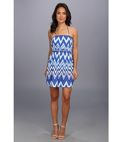 Gabriella Rocha - Aztec Short Tie Dress (Royal) Women