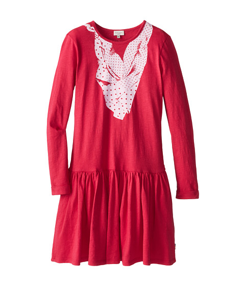 Paul Smith Junior - Jersey-Dress With Printed Scarf And Ruffle Bottom Pant (Big Kids) (Strawberry) Girl