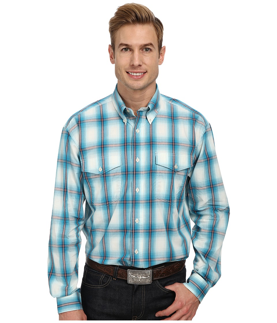 Roper - Baseball (Blue) Men's Long Sleeve Button Up