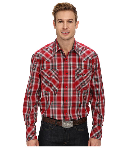 Roper - Boxing (Red) Men's Long Sleeve Button Up