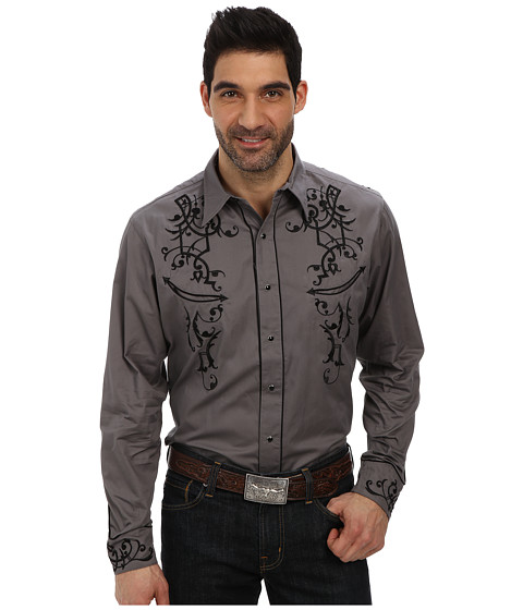 Roper - Old West Bracket Embroidery (Grey) Men