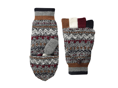 Jack Spade - Fairisle Convertible Mittens (Burgundy) Wool Gloves