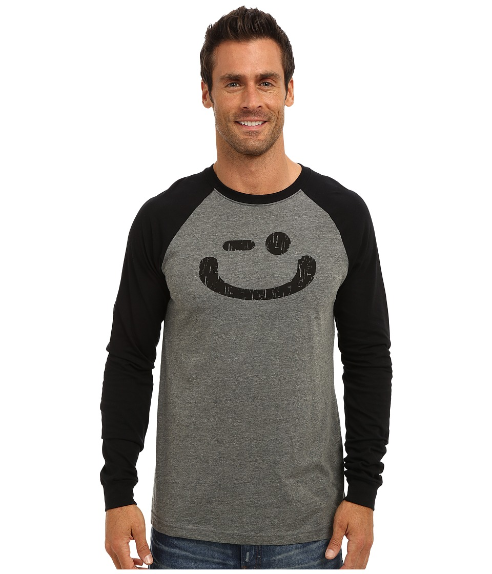 Delivering Happiness - The Winkey (Gray/Black) Men's Long Sleeve Pullover