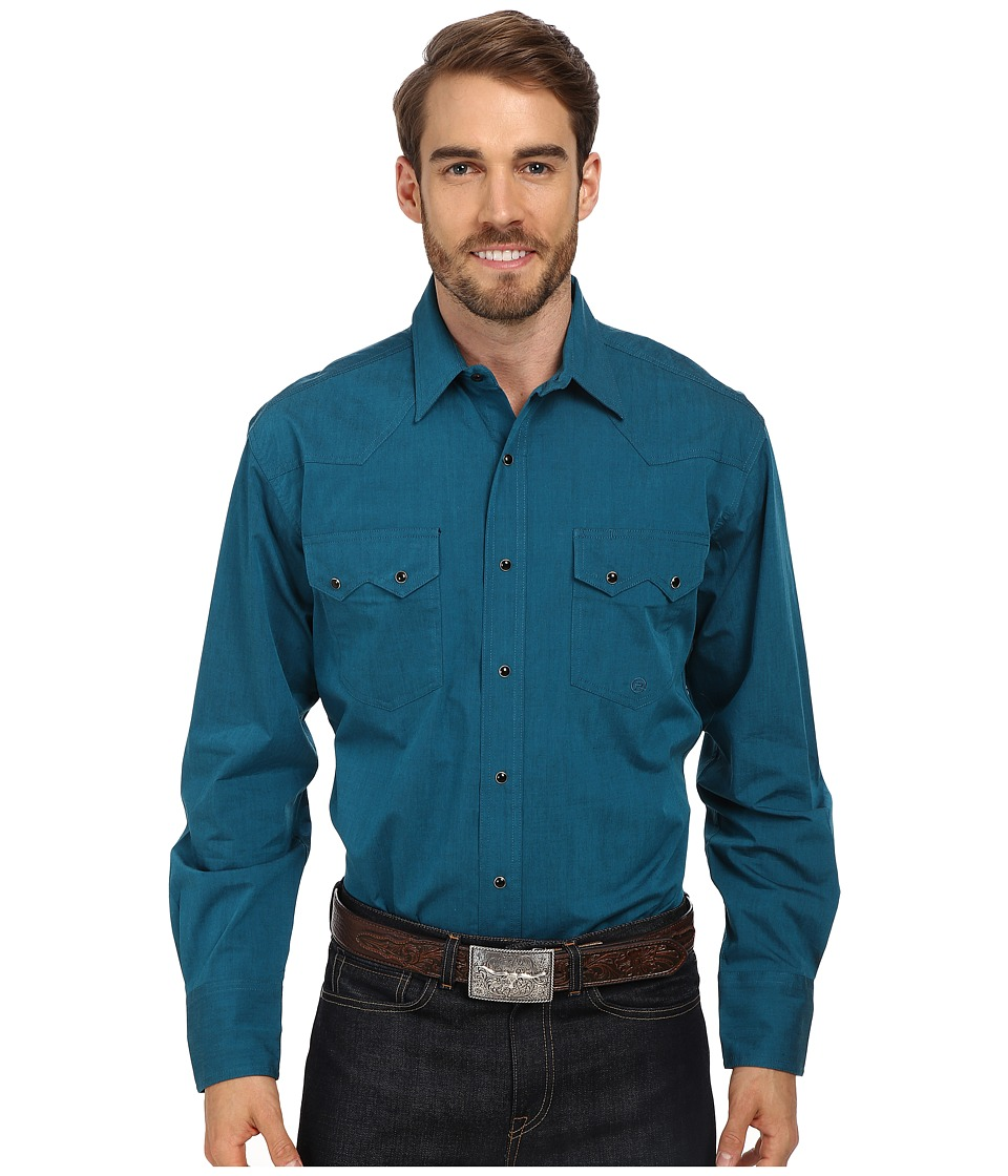 Roper - Solid With Black Fill (Green) Men's Clothing