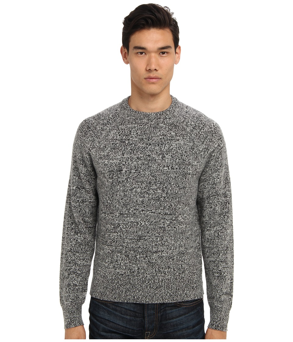 Jack Spade - Olson Marled Crewneck Sweater (Black) Men's Long Sleeve Pullover
