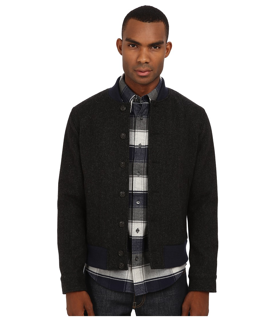 Jack Spade - Herringbone Varsity Jacket (Black) Men's Coat