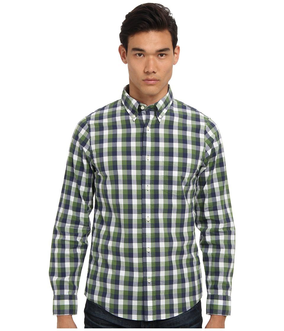 Jack Spade - Bowen Gingham Shirt (Green) Men's Long Sleeve Button Up