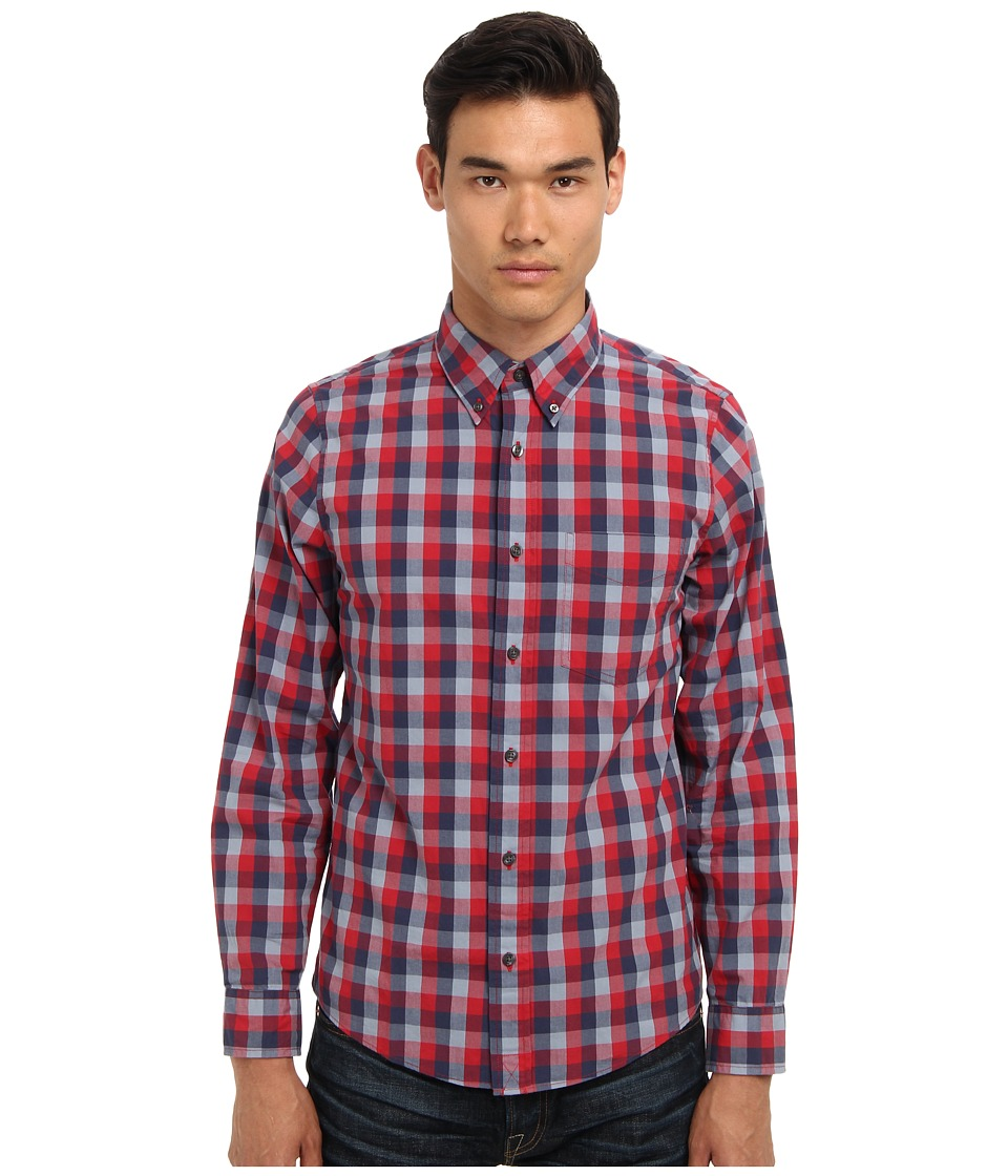 Jack Spade - Bowen Gingham Shirt (Red) Men's Long Sleeve Button Up