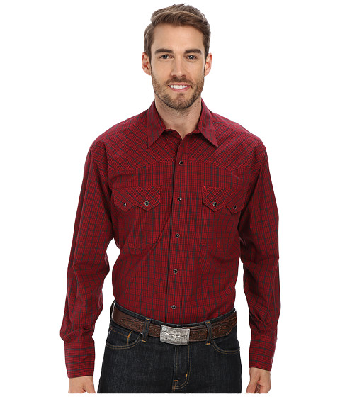 Roper - Window Pane Check (Red) Men's Clothing