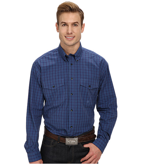 Roper - Window Pane Check (Blue) Men