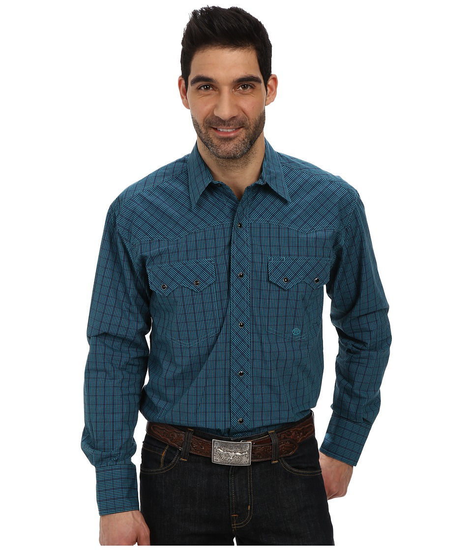 Roper - Window Pane Check (Green) Men's Clothing