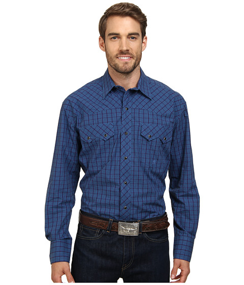 Roper - Window Pane Check (Blue) Men's Clothing