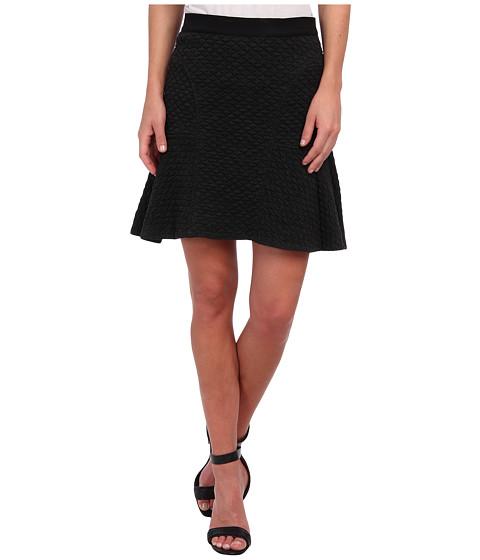 Rebecca Taylor - Texture Flounce Skirt (Charcoal) Women's Skirt