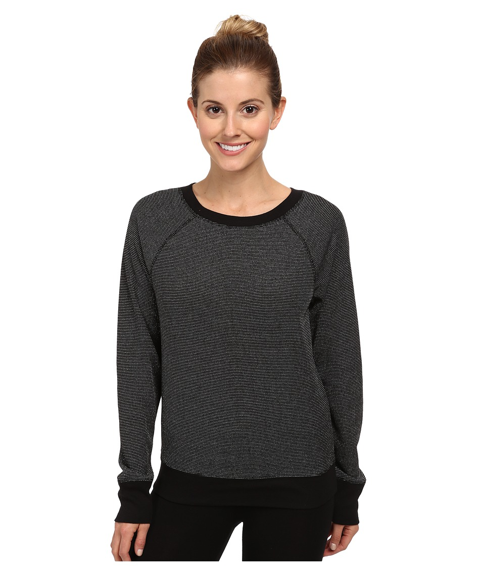 Steve Madden - Lurex Thermal Tee - L/S (Black) Women's Pajama