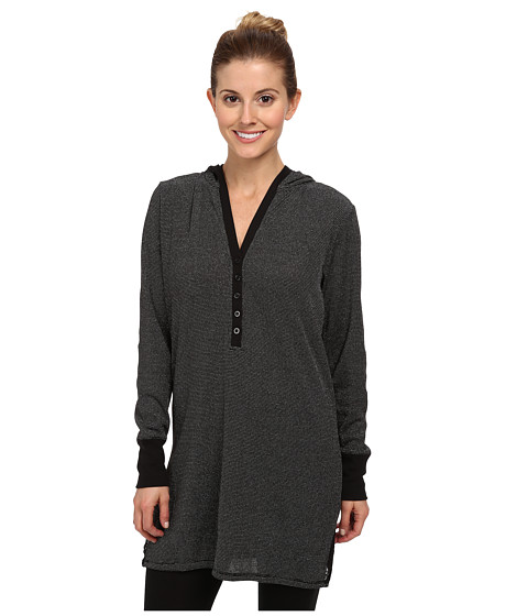 Steve Madden - Lurex Thermal SS - L/S (Black) Women's Pajama