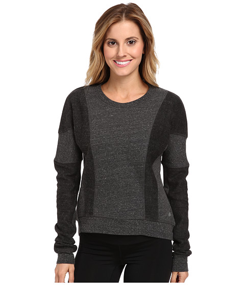 ALO - Rapids Long Sleeve Top (Black Heather) Women