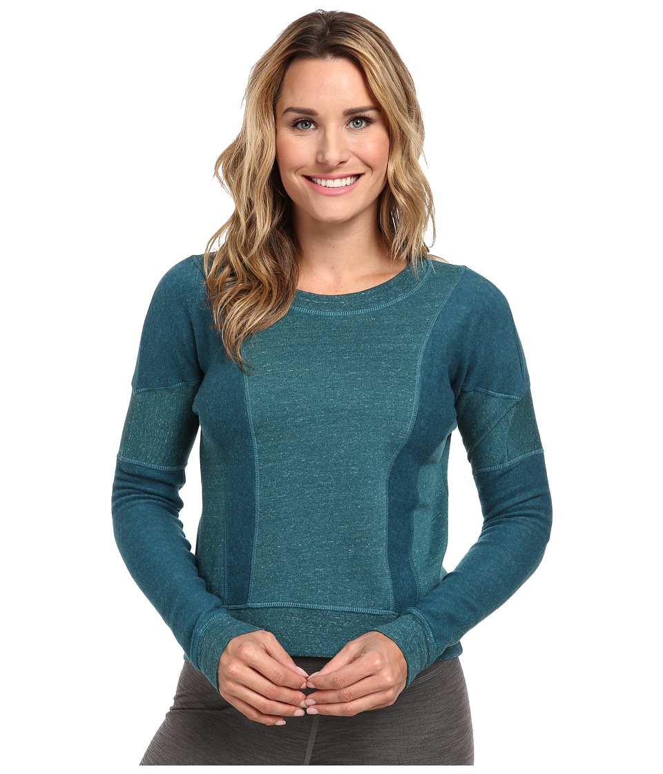 ALO - Rapids Long Sleeve Top (Viridian Heather) Women's Sweatshirt