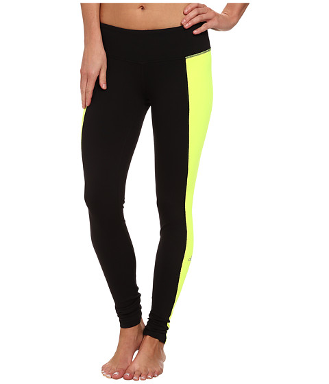 ALO - Illusion 3 Legging (Black/Highlighter) Women's Workout