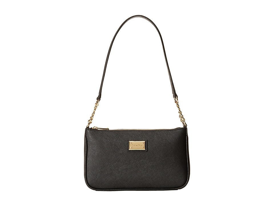 Calvin Klein - Saffiano Demi (Black/Gold) Shoulder Handbags