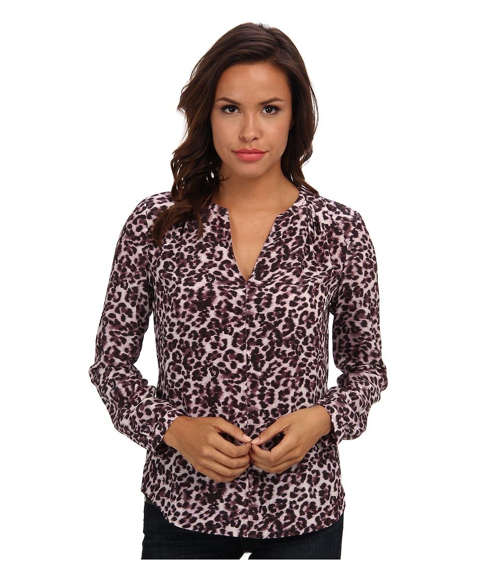 Rebecca Taylor - Long Sleeve Lynx Print Top (Fig) Women