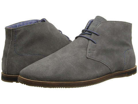 Ben Sherman Mens Grey Suede Boots Aberdeen