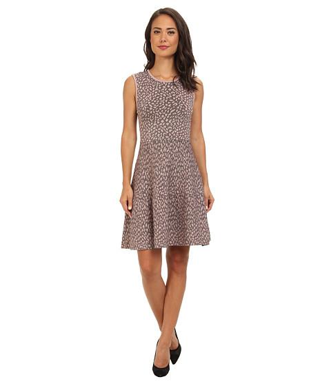 Rebecca Taylor - Sleeveless Stretch Animal Dress (Clay/Jet) Women