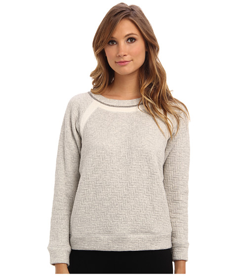 Rebecca Taylor - Long Sleeve Chain Sweatshirt (Grey) Women's Sweatshirt