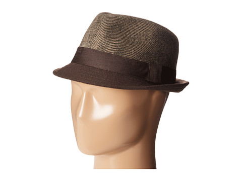 Michael Stars - Mingled Together Fedora (Mahogany) Fedora Hats