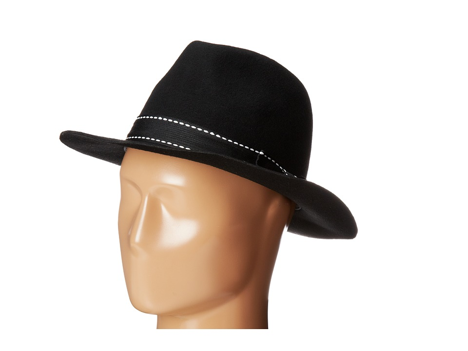 Michael Stars - Thick Stitch Fedora (Black) Fedora Hats