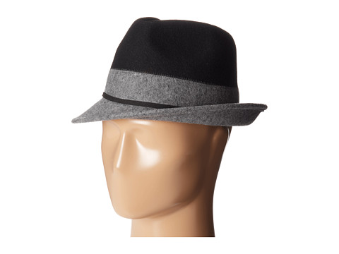 Michael Stars - Bugsy Blocked Fedora (Black) Fedora Hats