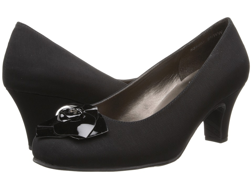 Rose Petals - Cherish (Black Micro/Black Patent) Women's Shoes