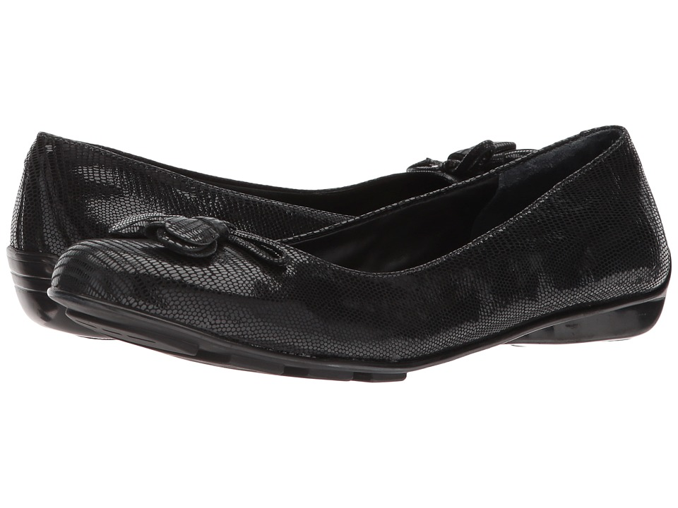 Walking Cradles - Bay (Black Patent Lizard Print) Women's Shoes
