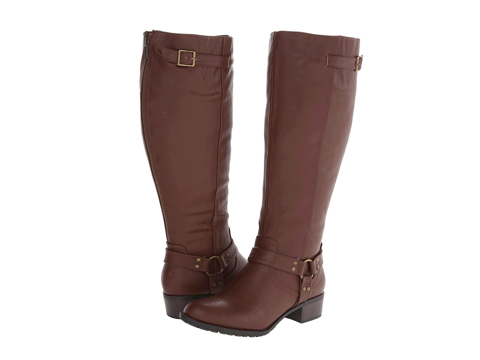 rsvp - Rylee Wide Calf (Cognac) Women's Wide Shaft Boots