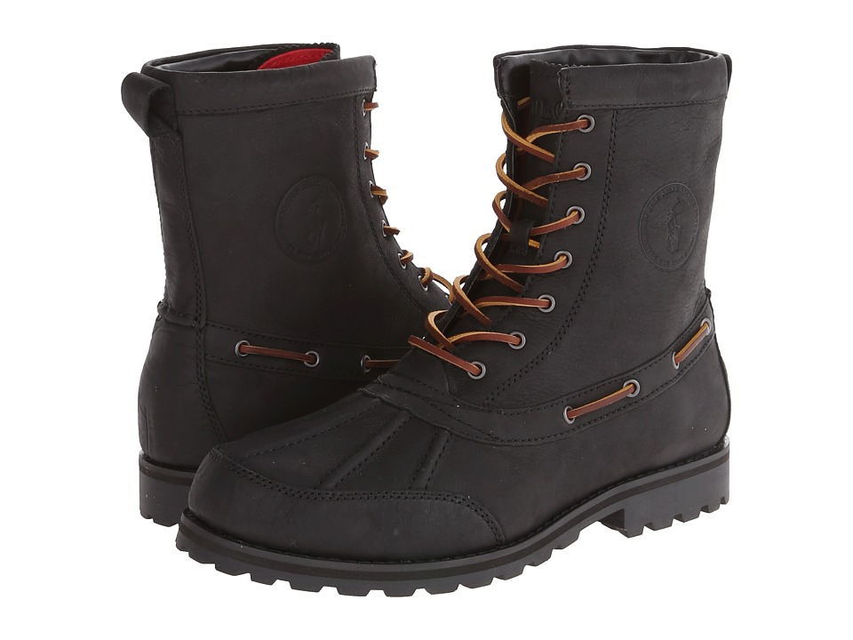 Polo Ralph Lauren - Whitsand (Black Waxy Pull Up) Men's Lace-up Boots