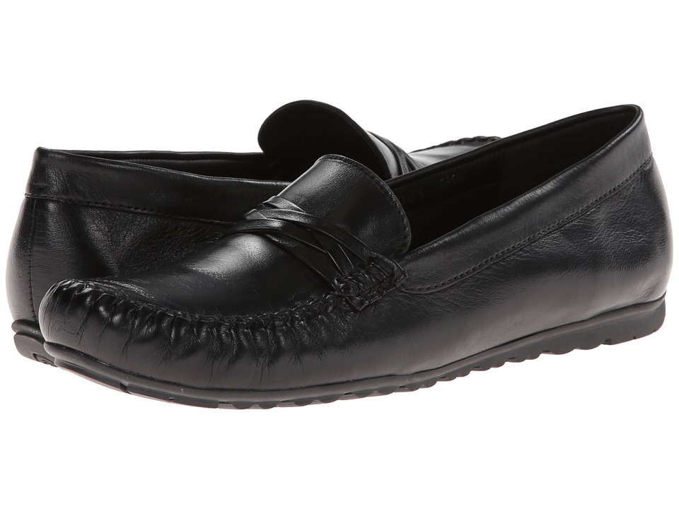 Rose Petals - Esther (Black Leather) Women's Shoes