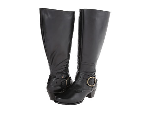 Walking Cradles - Clarity - Extra Wide Shaft (Black Soft Antique) Women's Dress Boots