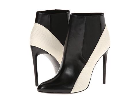 Rachel Zoe - Gael (Black/White Real Snake/Baby Calf) High Heels