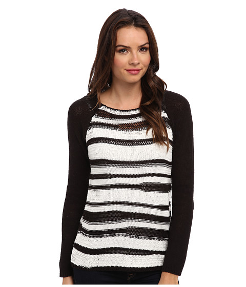 Sanctuary - Spliced Sweater (Black/White) Women's Sweater