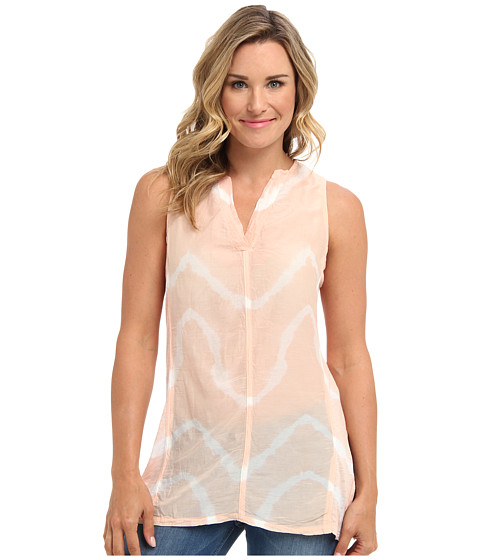XCVI - Freesia Sleeveless Tunic (Zig Zag Melon) Women's Blouse