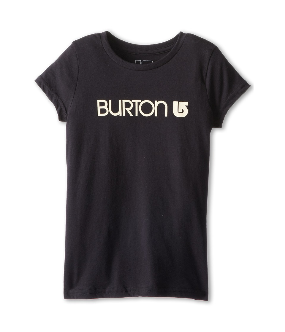 Burton Kids - Her Logo S/S Tee (Big Kids) (True Black) Girl
